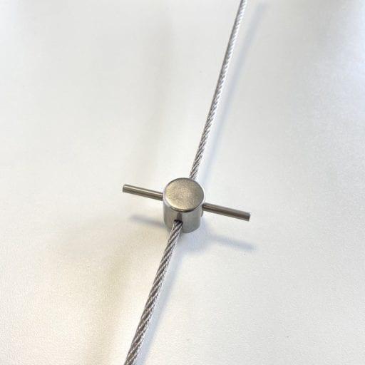 Klimsteun-RVS-met-spankabel-voorkant klimhulp systeem Carl Stahl Green Walls